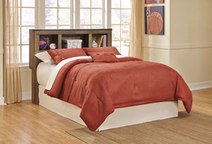 Trinell Brown Full Bookcase Headboard