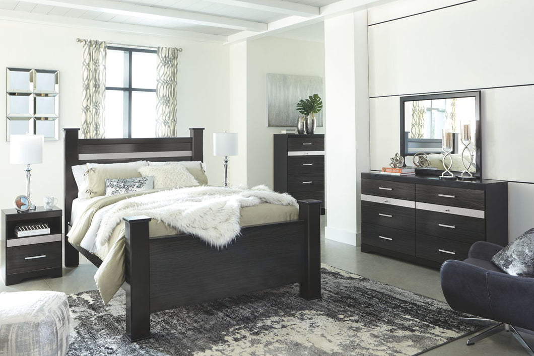 Starberry Black King Poster Bed
