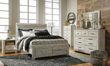 Load image into Gallery viewer, Bellaby Whitewash Queen Panel Storage Bed, Dresser & Mirror