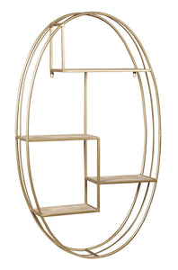 Elettra Natural/Gold Finish Wall Shelf