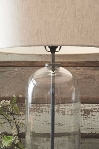Manelin Clear/Gray Glass Table Lamp (1/CN)