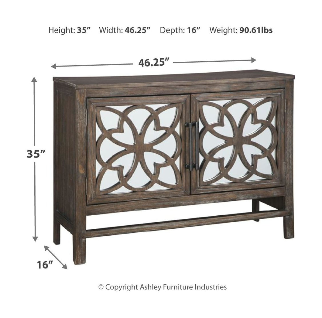 Alvaton Antique Brown Accent Cabinet