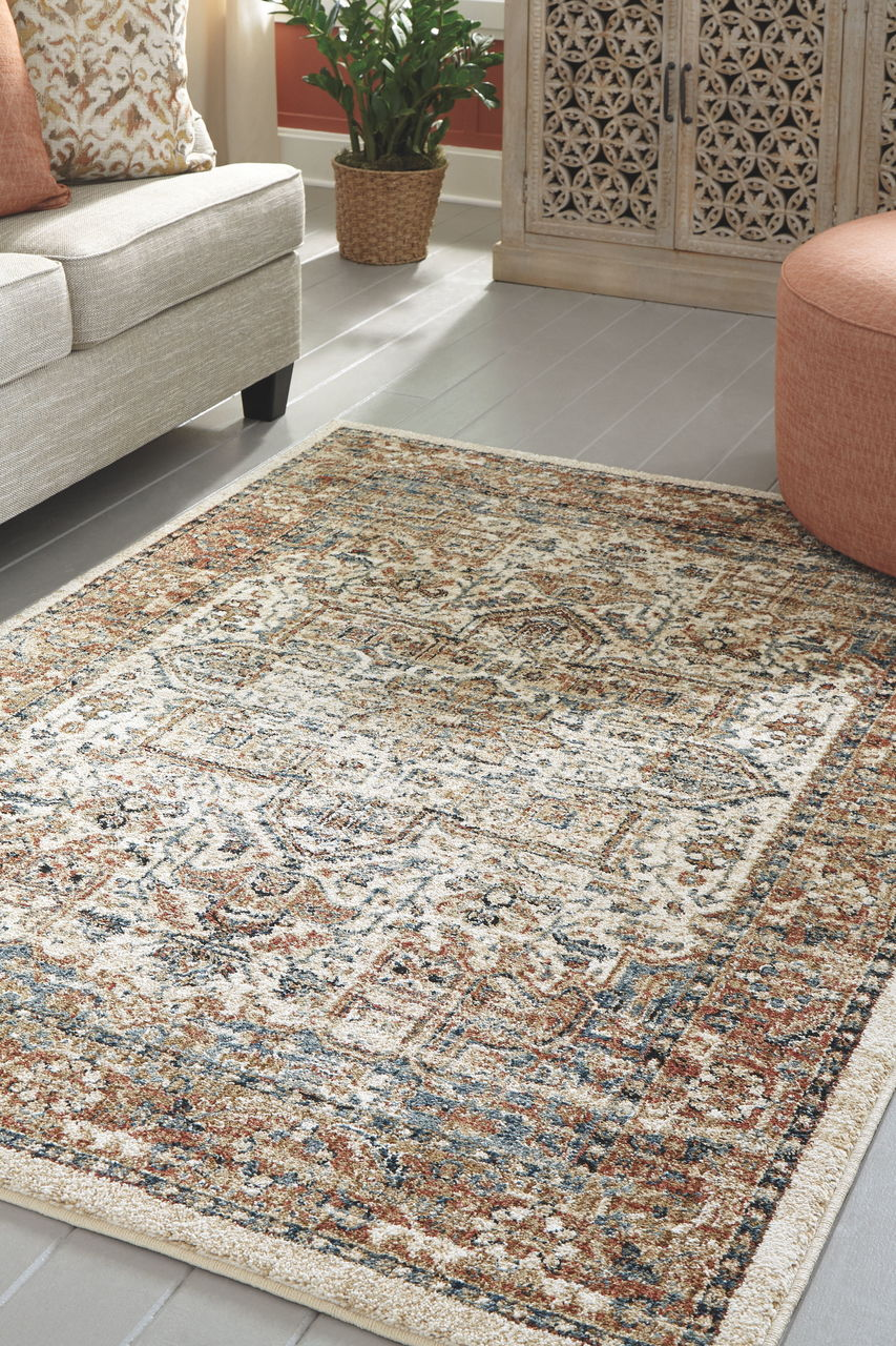 Jirair Tan/Blue/Rust Large Rug