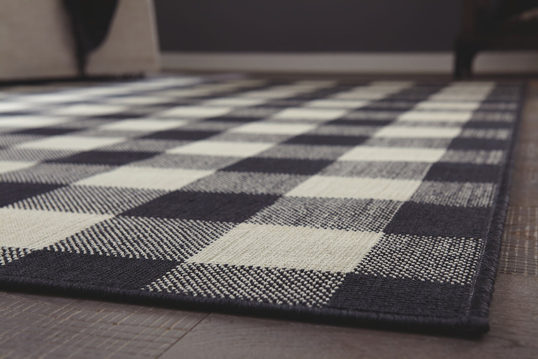 Juji Black/White/Gray Large Rug