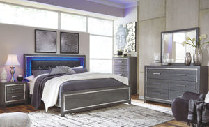 Lodanna Gray King Panel Bed