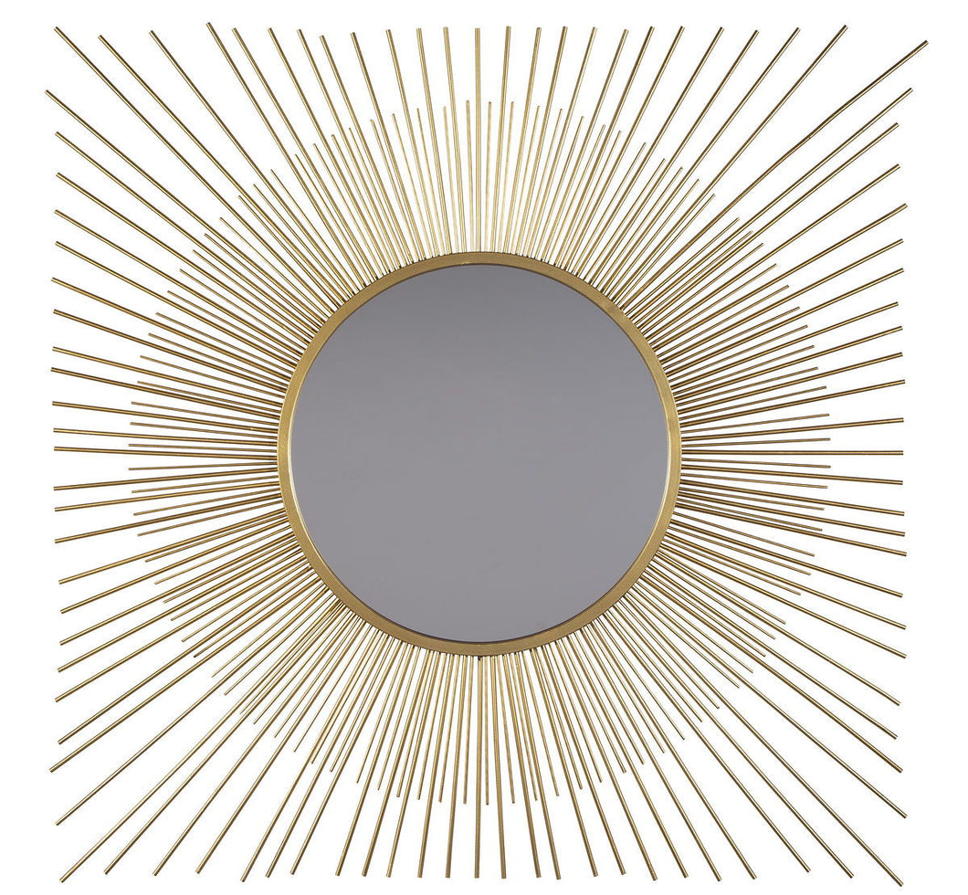 Elspeth Gold Finish Accent Mirror