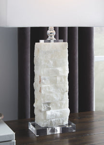 Malise White Alabaster Table Lamp (1/CN)