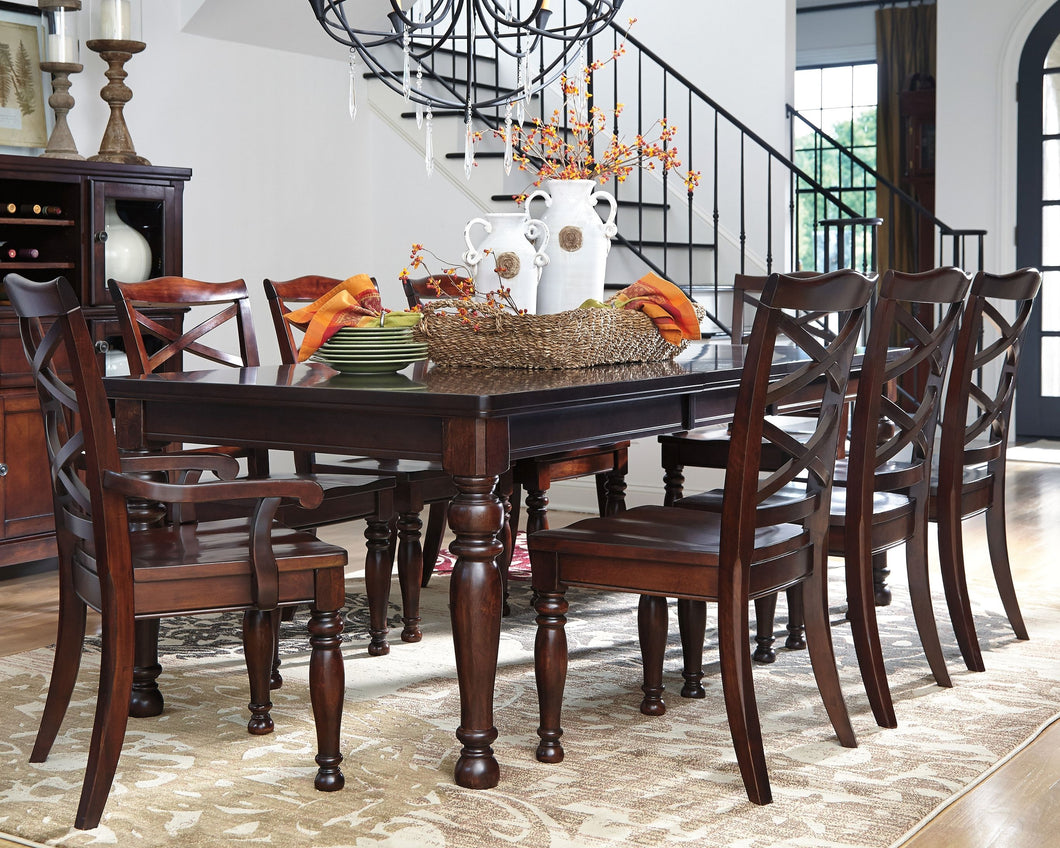 Porter Rustic Brown 7 Pc. Rectangular DRM EXT Table, 4 Side Chairs & 2 Arm Chairs