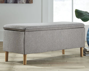 Kaviton Gray Accent Bench