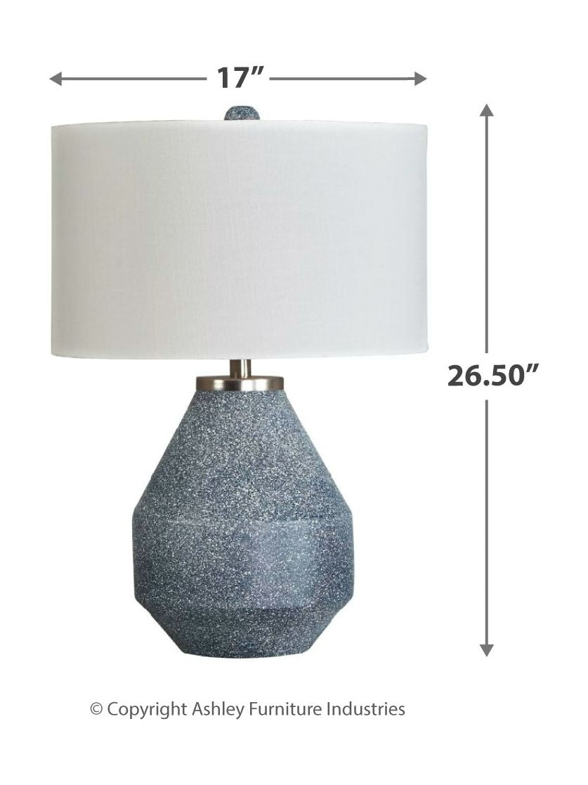 Kristeva Blue Metal Table Lamp (1/CN)