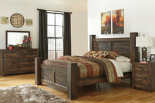 Load image into Gallery viewer, Quinden Dark Brown 6 Pc. Dresser, Mirror & King Poster Bed