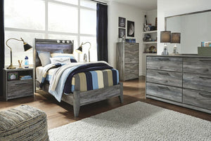 Baystorm Gray 4 Pc. Dresser, Mirror & Twin Panel Bed