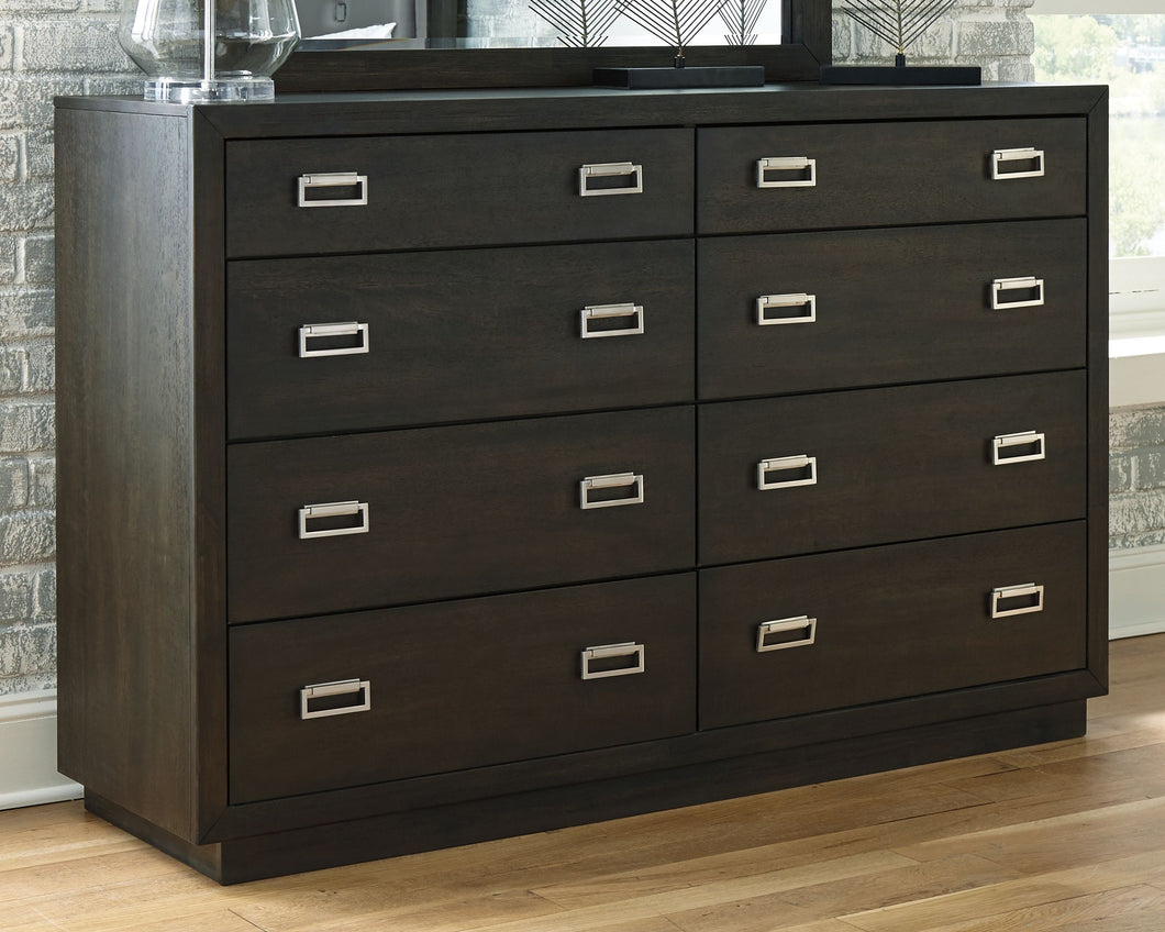 Hyndell Dark Brown Dresser