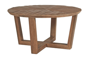 Kinnshee Brown Round Cocktail Table