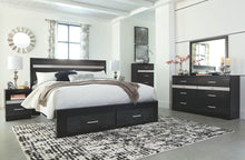 Load image into Gallery viewer, Starberry Black 6 Pc. Dresser, Mirror & King Panel Bed with Storage