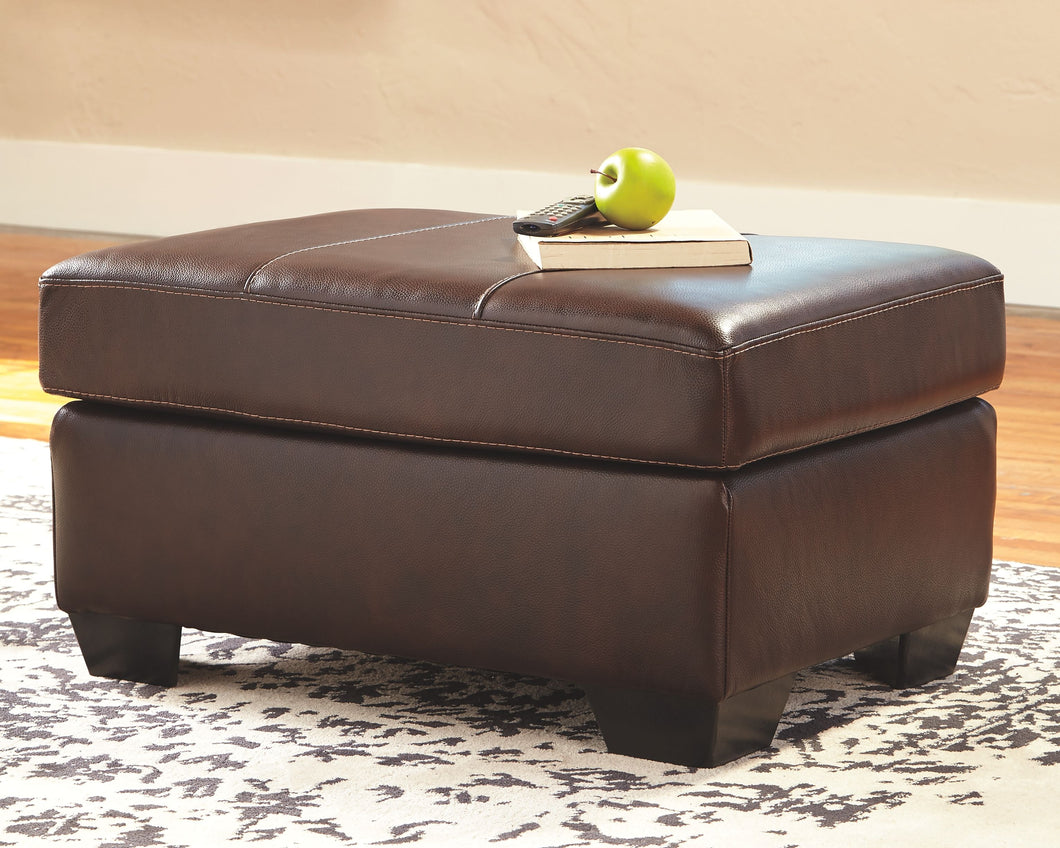 Morelos Chocolate Chair with Ottoman