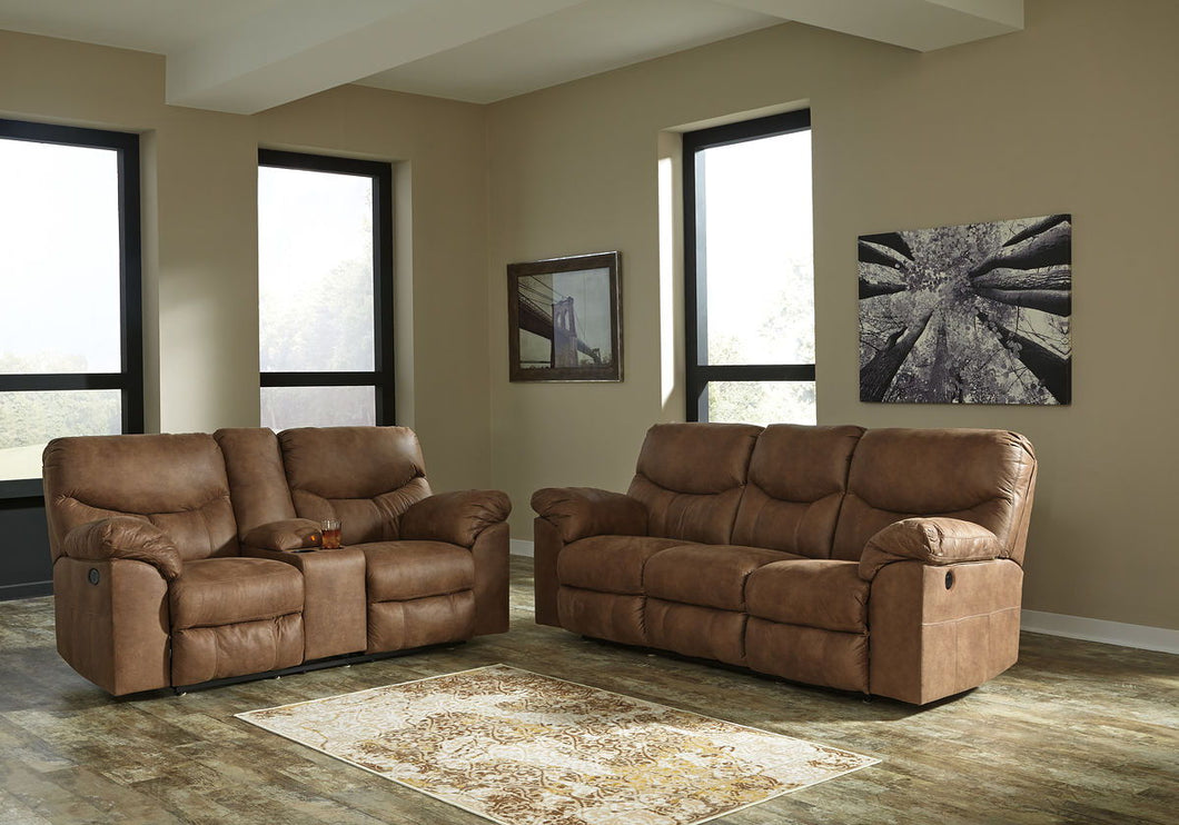 Boxberg Bark REC PWR Sofa/Couch & DBL REC PWR Loveseat with Console