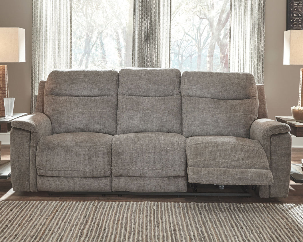 Mouttrie Smoke Power Reclining Sofa/Couch with ADJ Headrest