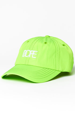 DOPE Core Dad Hat #Safety Green