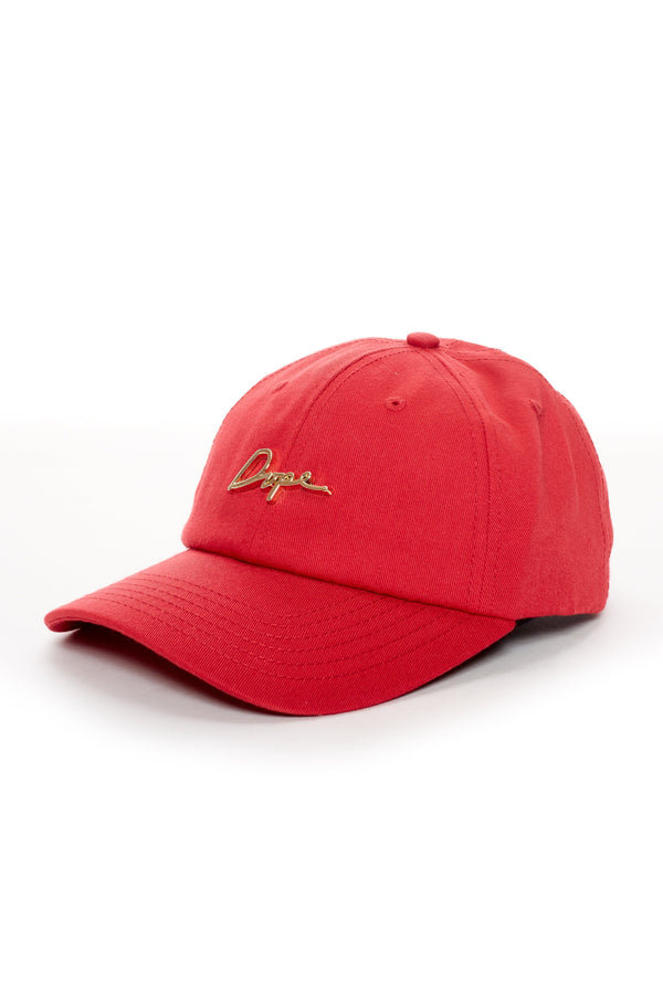 DOPE 24K Script Dad Hat #Red