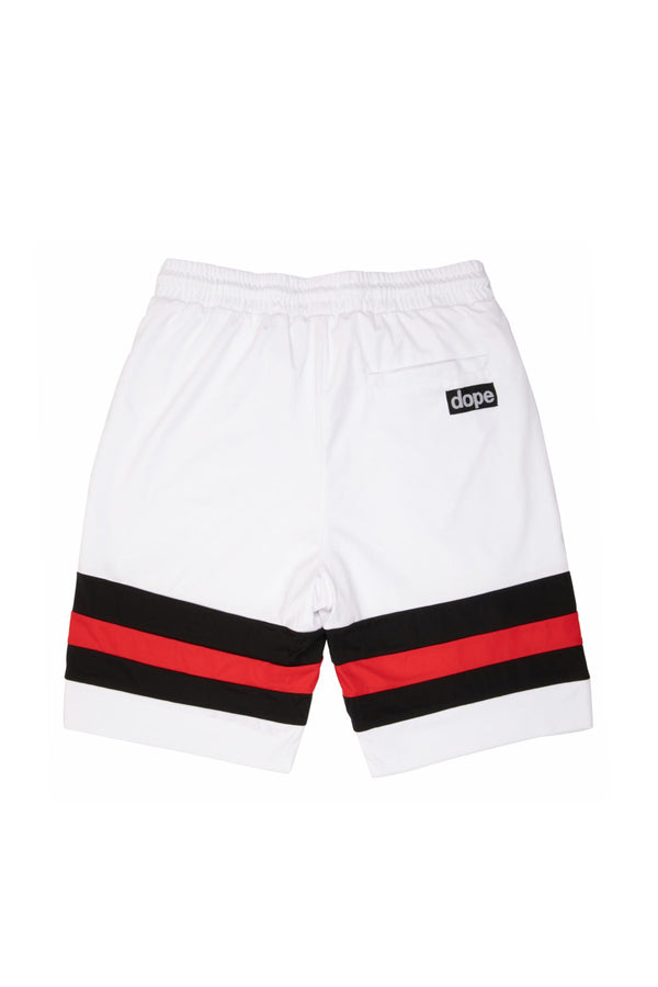 DOPE Diego Soccer Shorts #White/Red