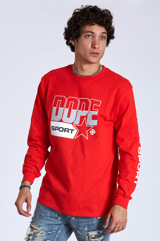DOPE Quarterfinal L/S Tee #Red