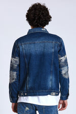 DOPE Boro Denim Trucker Jacket #Blue