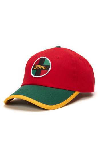 DOPE Crossroad Dad Hat #Red/Green