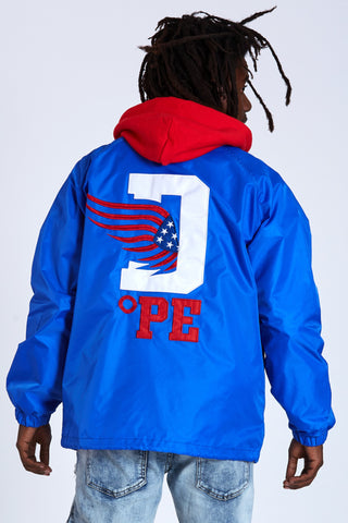 DOPE D-Wing Coach Jacket #Blue