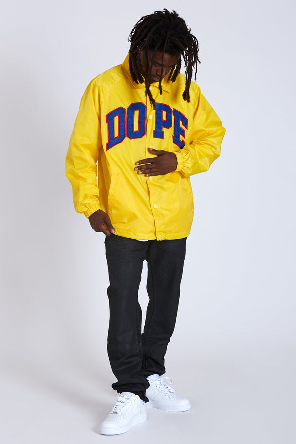 DOPE D-Wing Coach Jacket #Yellow