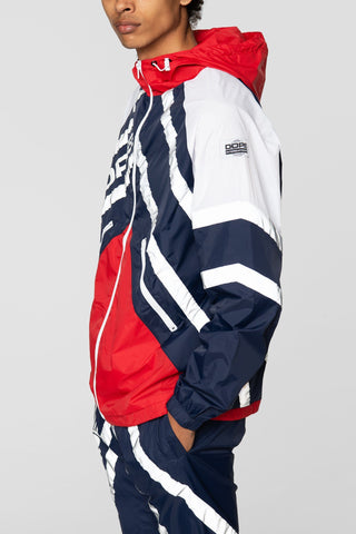 DOPE Wired Reflective Windbreaker #Blue/Red