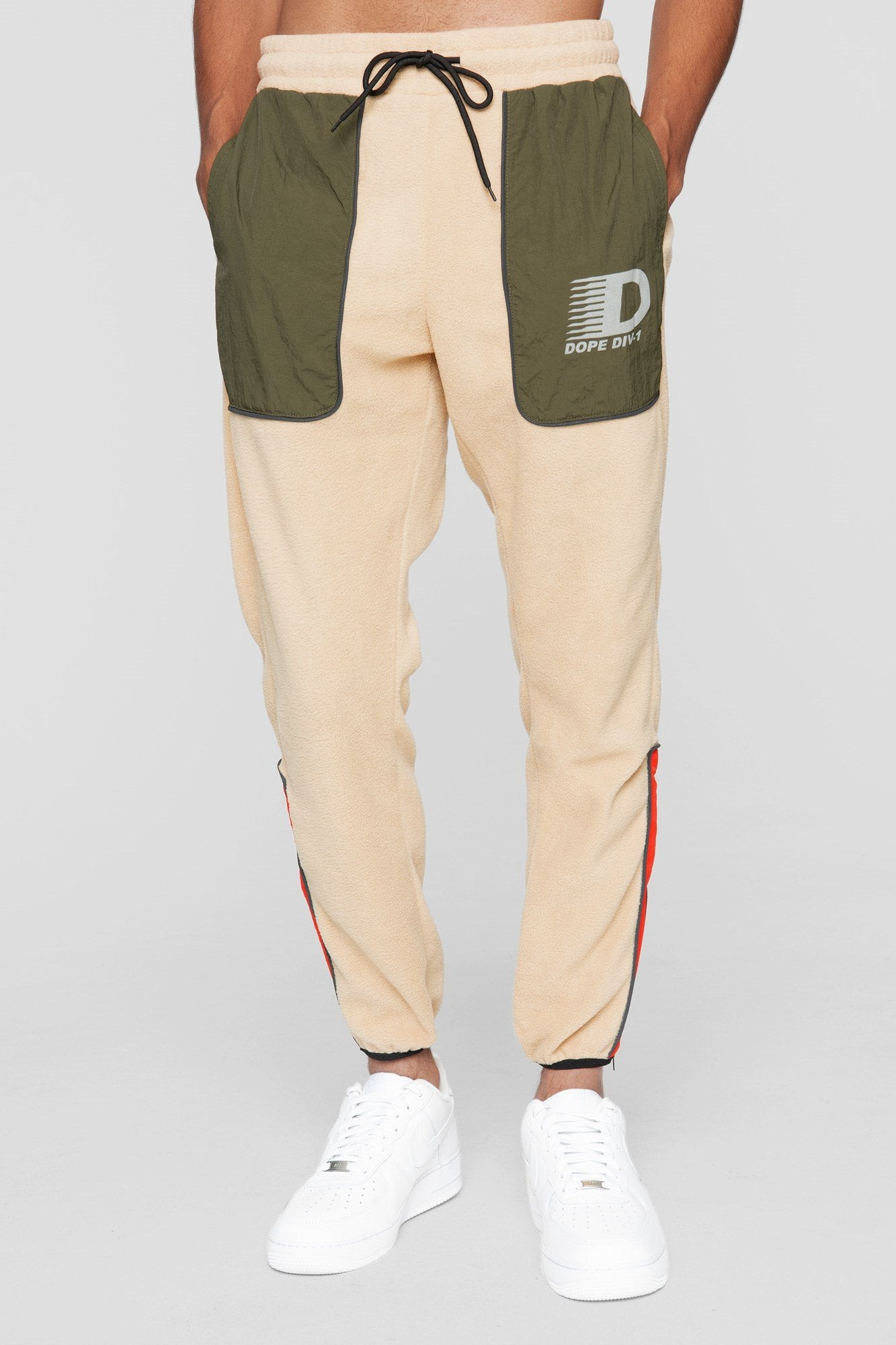 DOPE Apex Tech Fleece Sweatpants #Tan