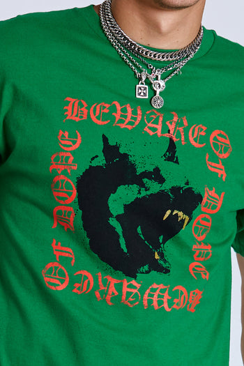 Dope Beware of dog tee #Green