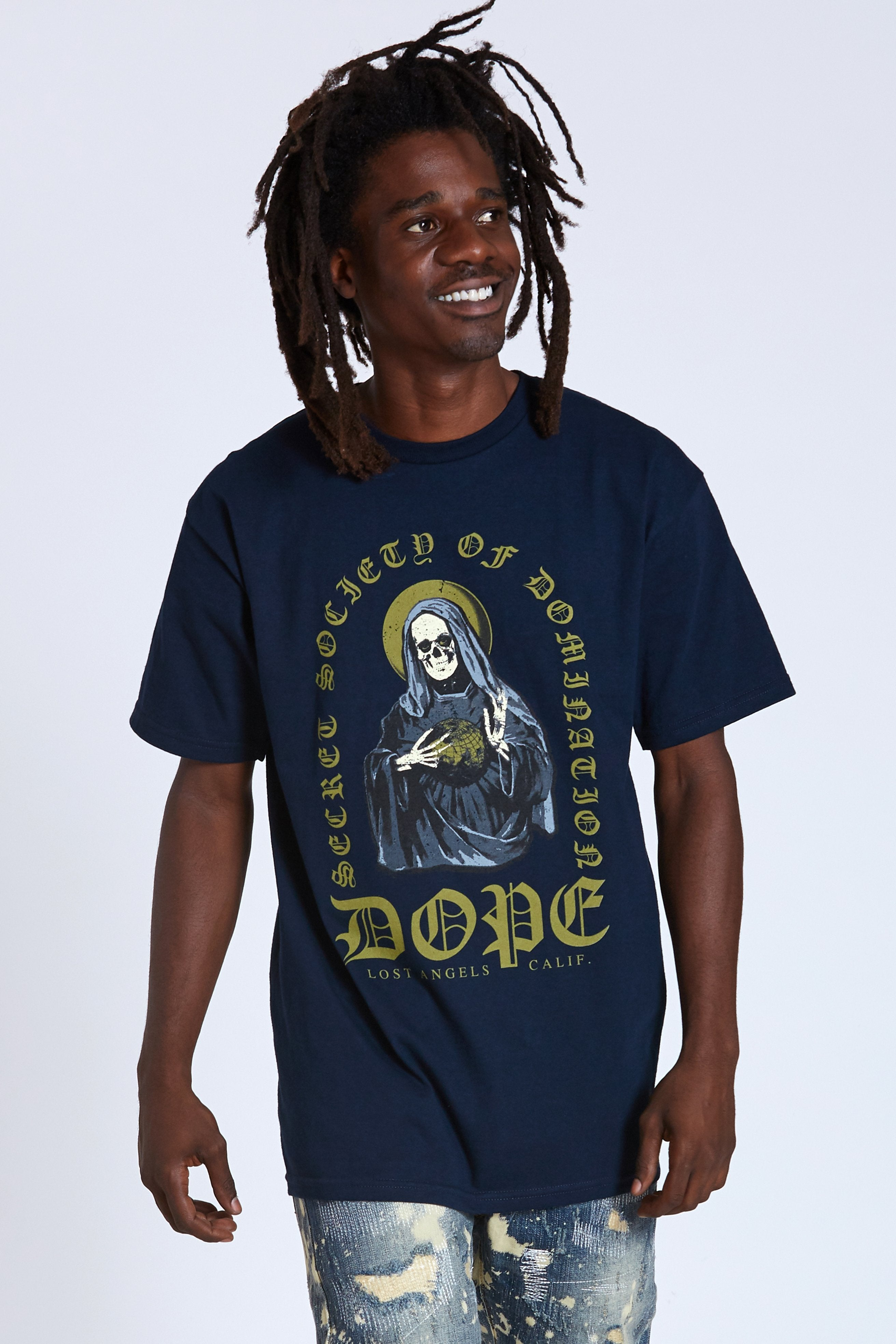 DOPE Mother Mary Tee #Navy