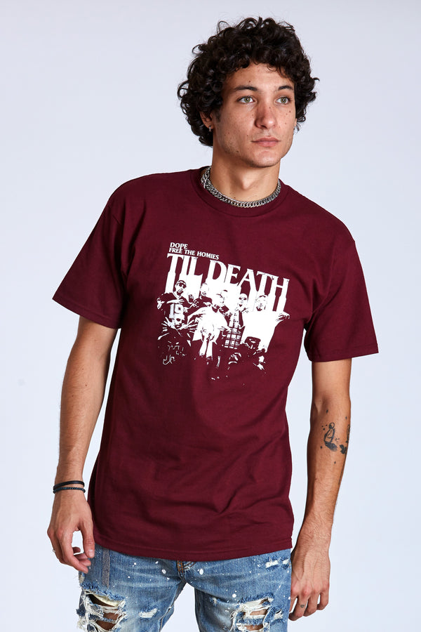 DOPE Free The Homies Tee #Burgundy