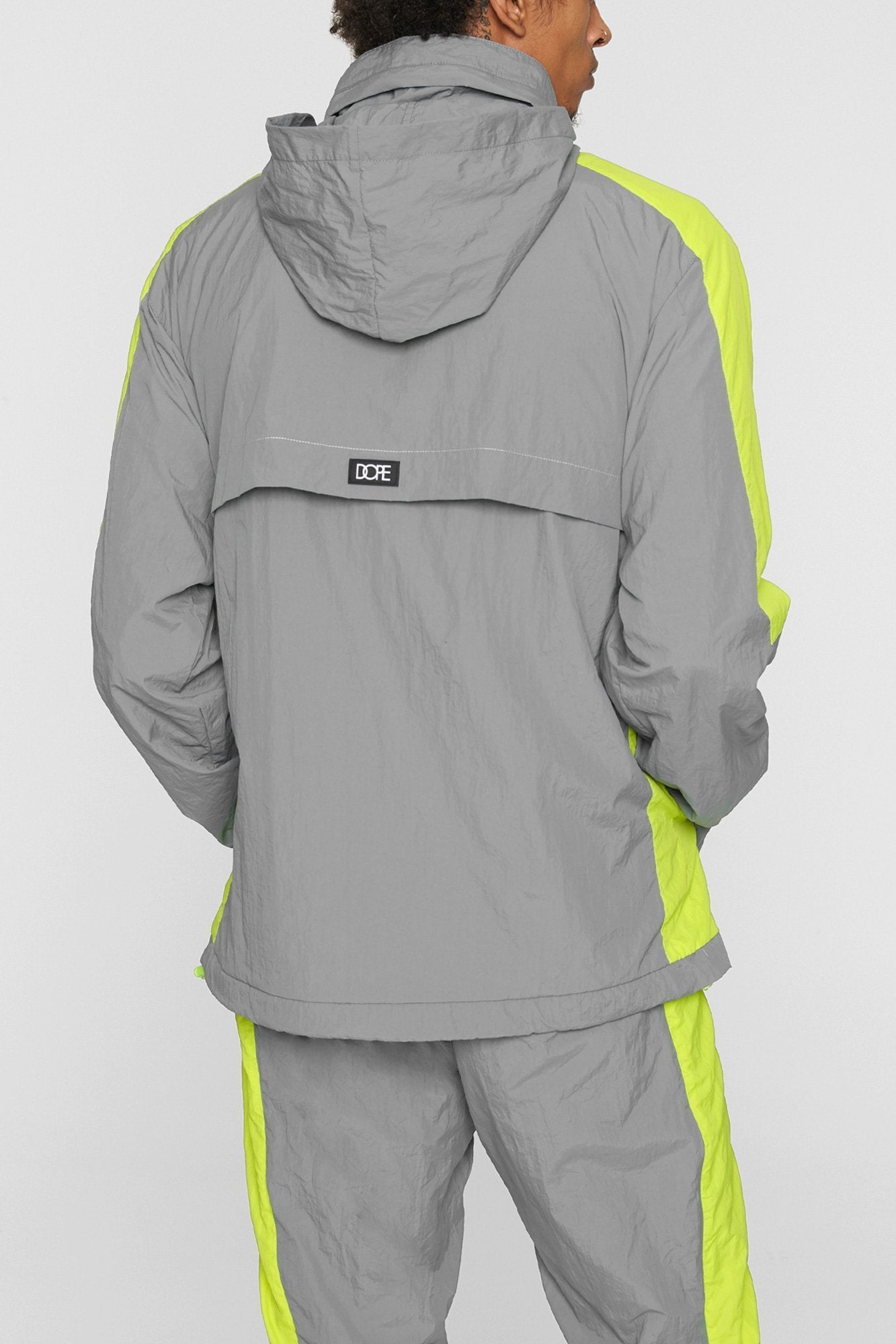 DOPE Wind-Tek Vented Pullover #Grey/Safety