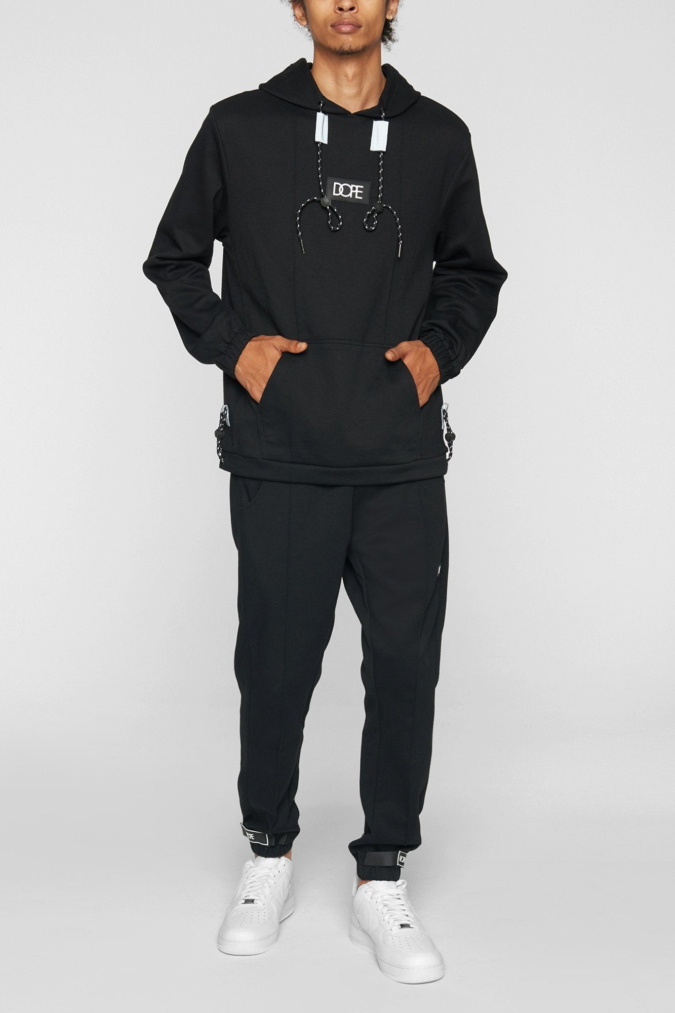 DOPE Core-Tek Pleated Pullover #Black