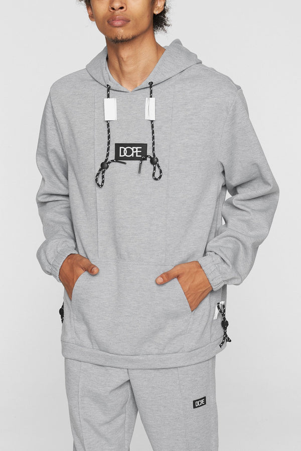 DOPE Core-Tek Pleated Pullover #Heather/Grey