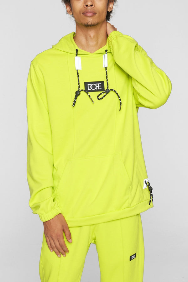DOPE Core-Tek Pleated Pullover #Safety/Green