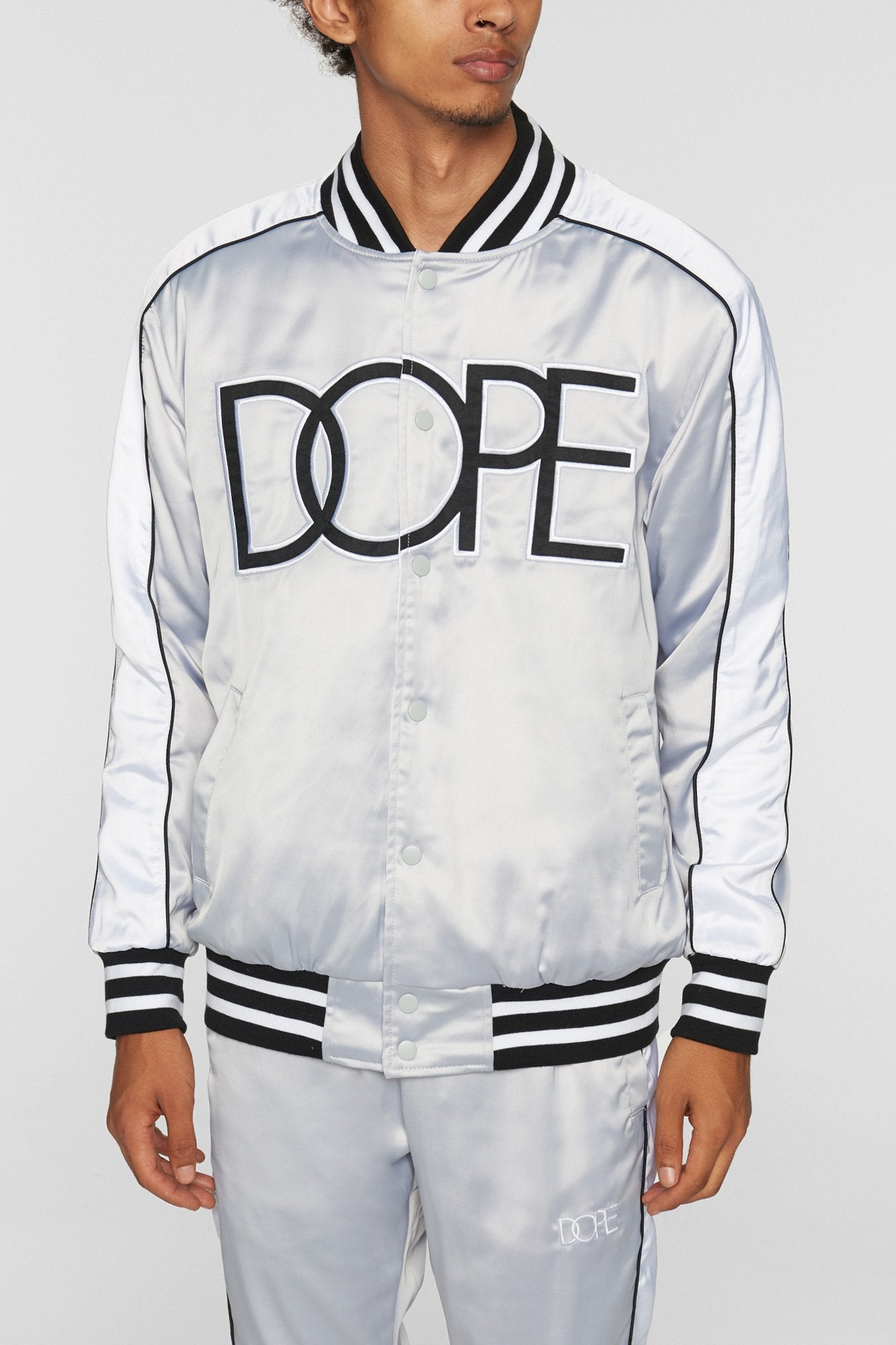 DOPE Sideline Reversible Satin Bomber #Brown