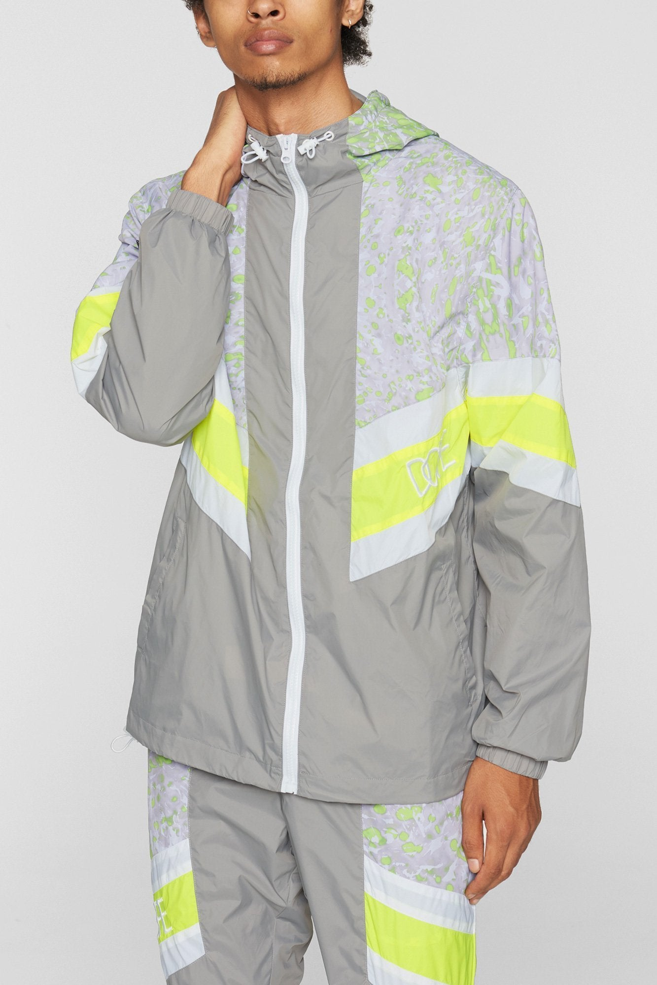 DOPE Relay Windbreaker #Grey/Safety