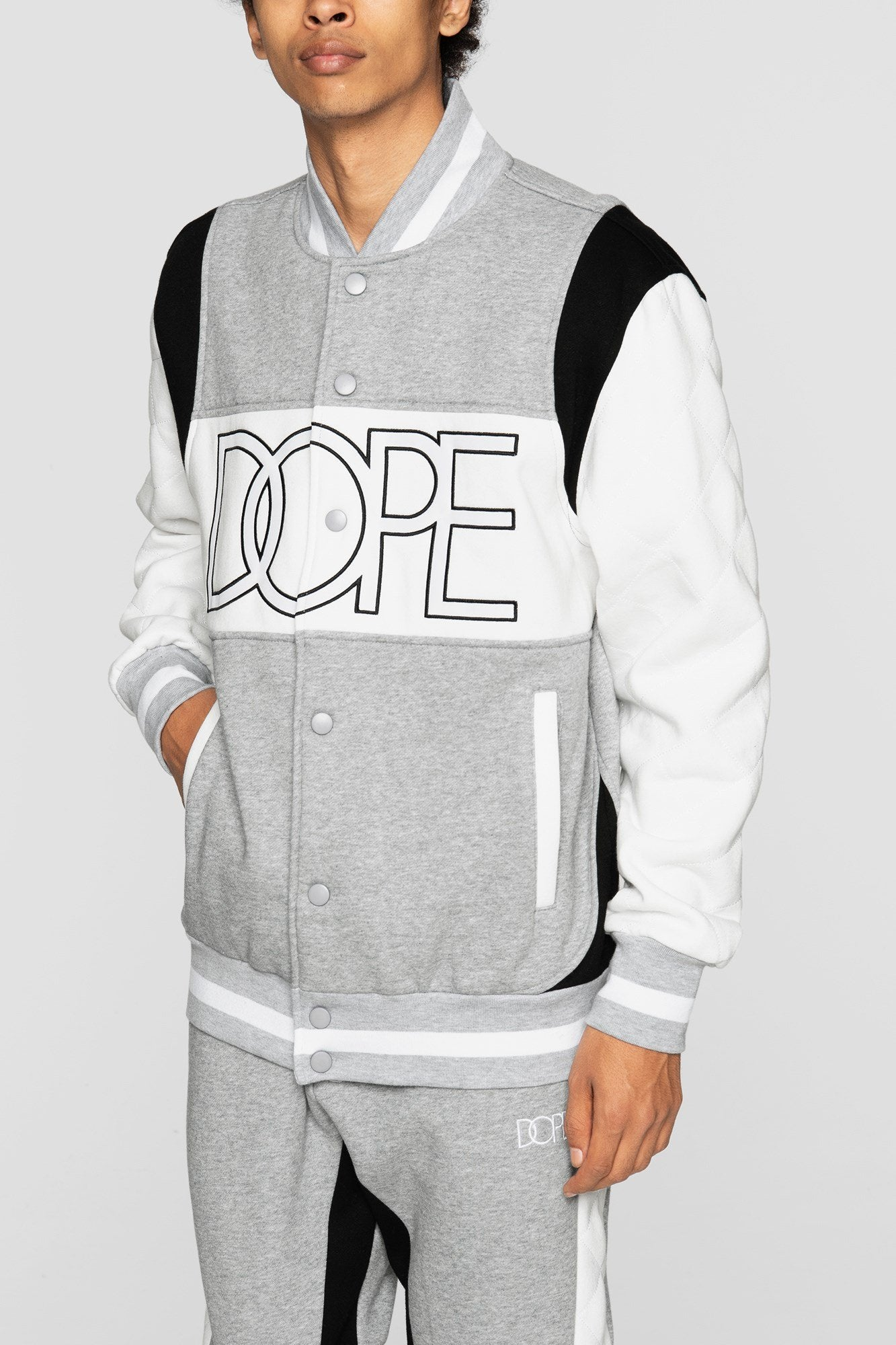 DOPE Rally Varsity Jacket #Heather Grey