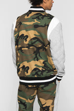 DOPE Rally Varsity Jacket #Woodland Camo