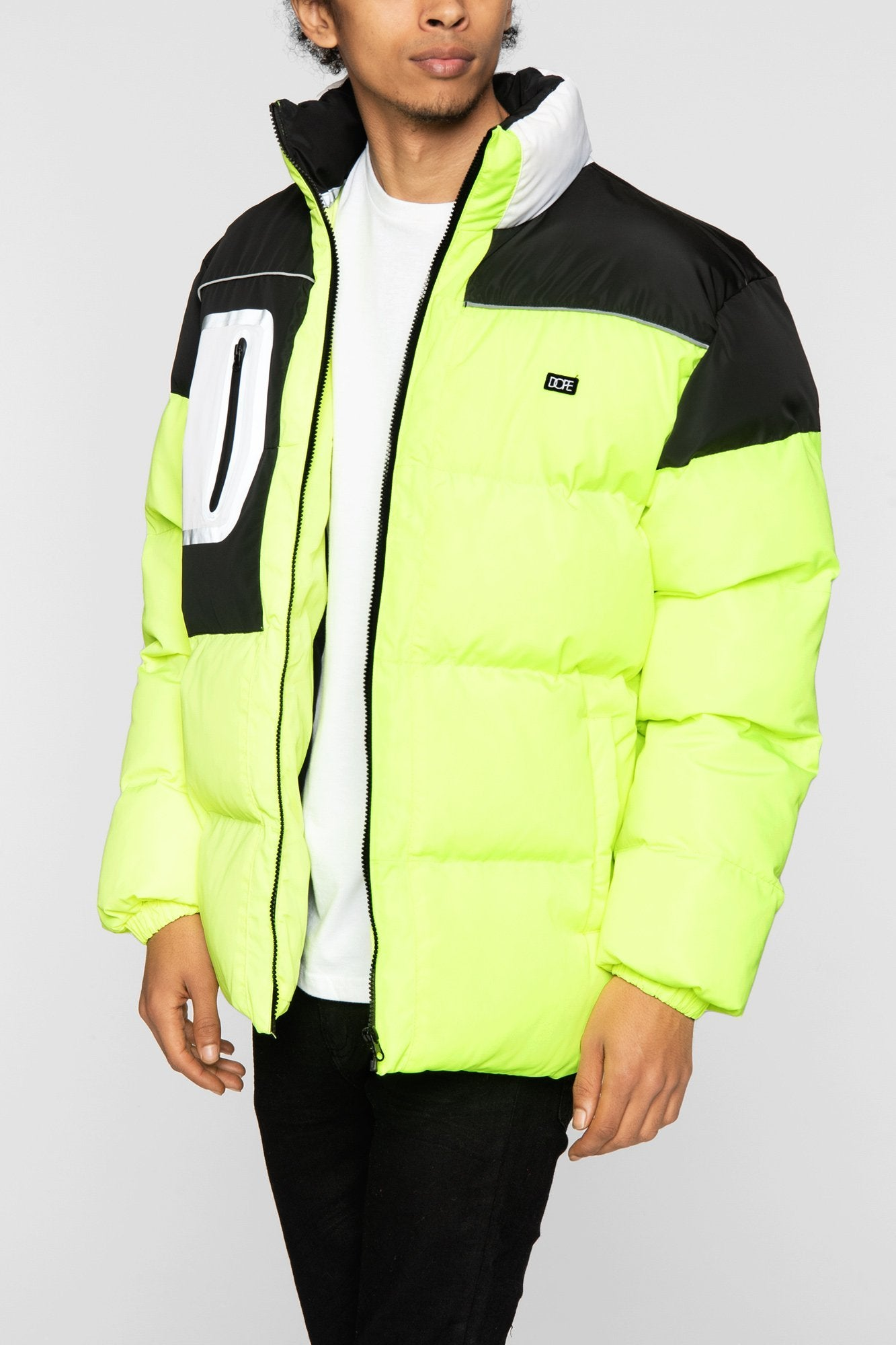 DOPE Brick Bubble Coat #Safety Green