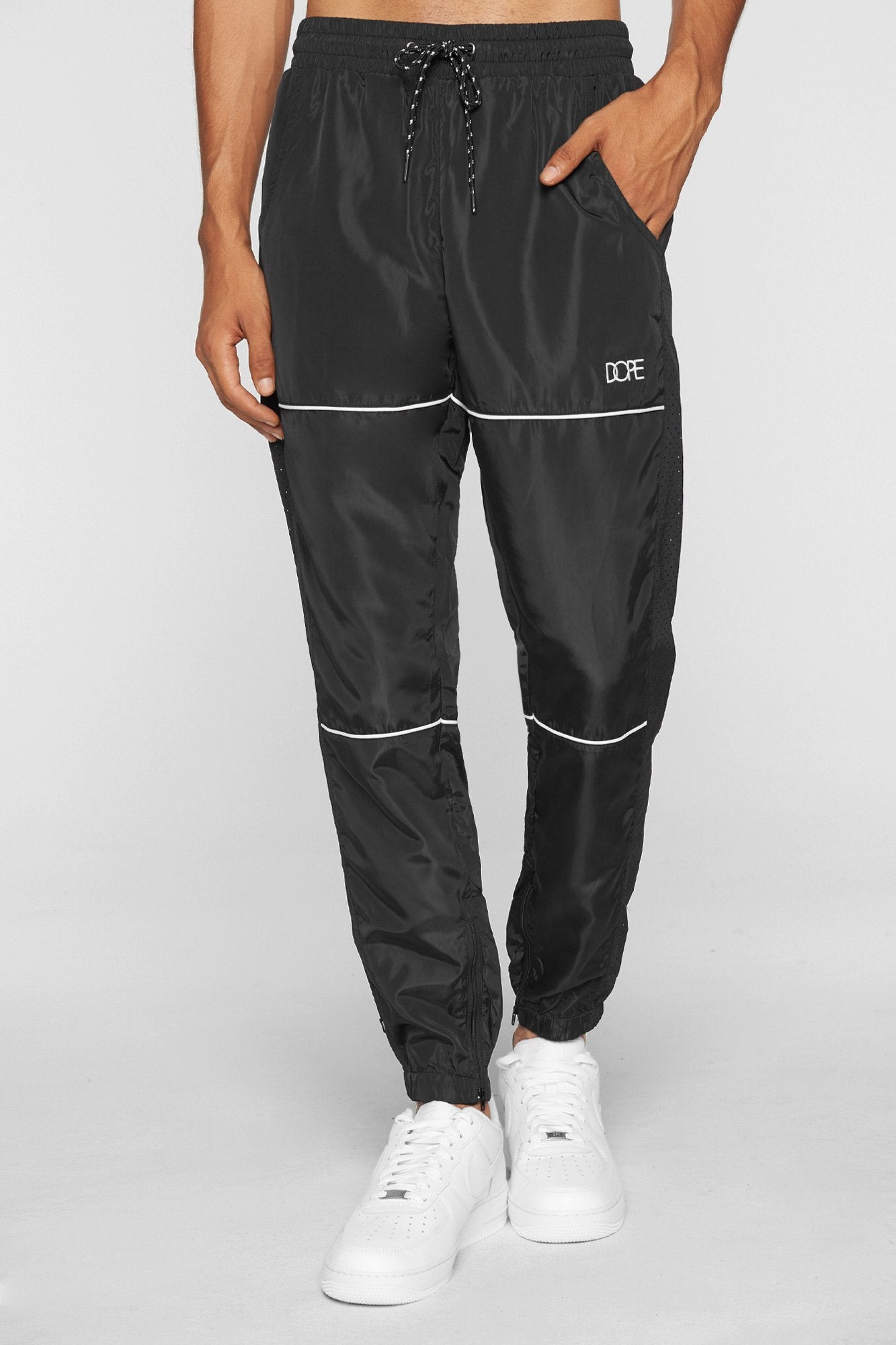 DOPE Soft-Tek Perforated Joggers #Black