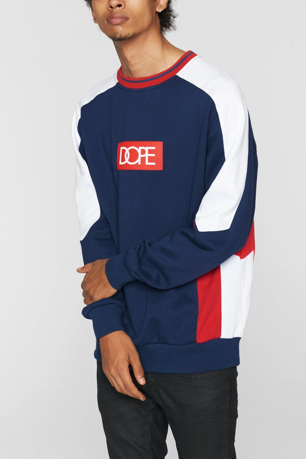DOPE Sprinter Crew #Navy/Red