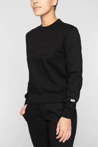 DOPE Embossed Cropped Crew #Black