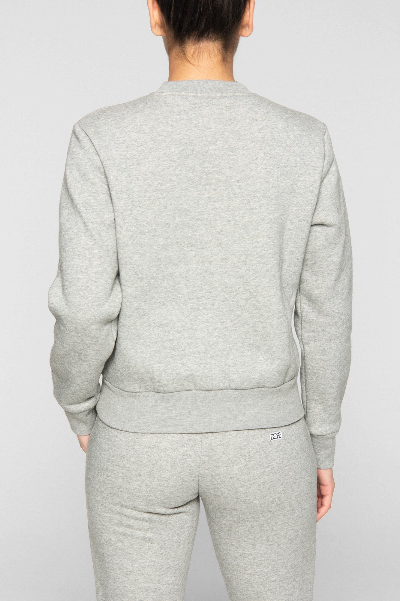 DOPE Embossed Cropped Crew #Heather Grey