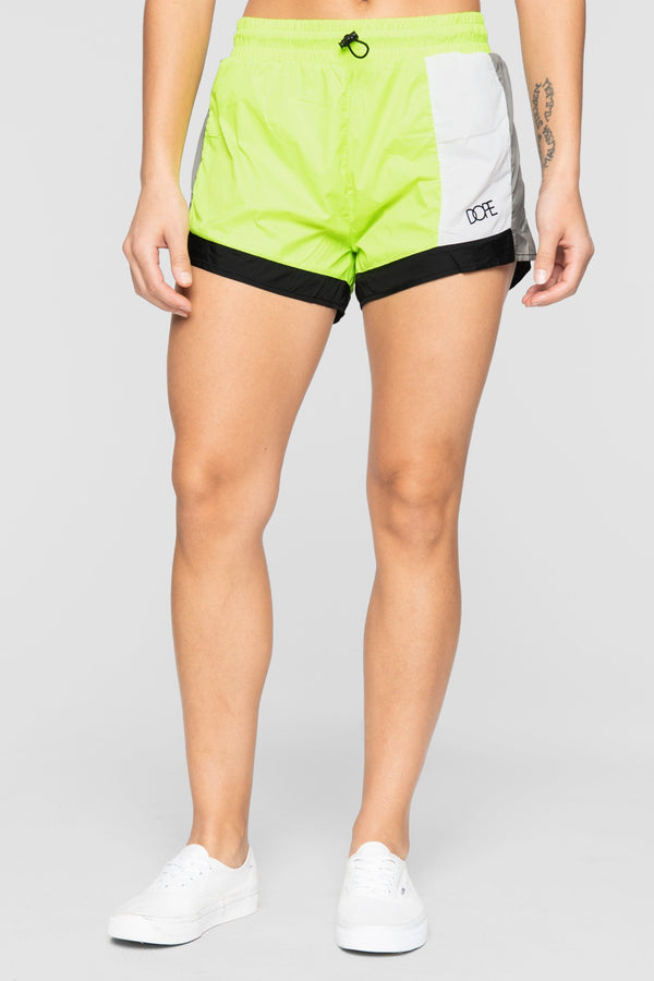 DOPE Nuova Running Shorts #Safety Green