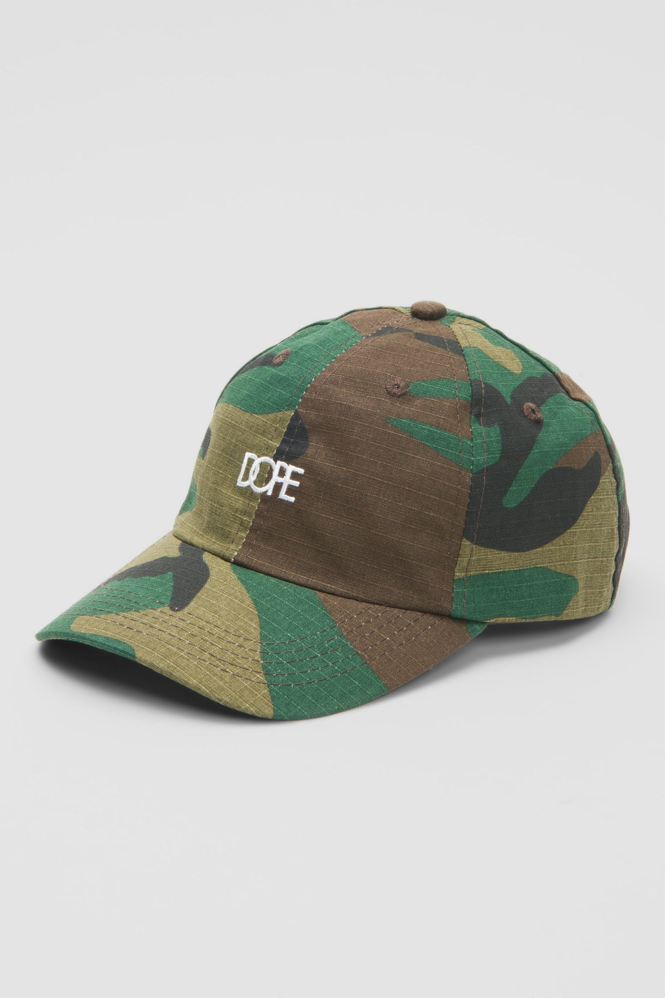 DOPE Woodsman Dad Hat #Woodland Camo